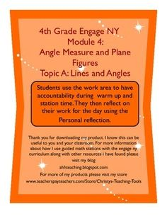 Engage NY Mod 4 Topic A ALL Lessons $5. This product helps guide small group/guided math instruction with Engage NY. Each Lesson contains the Objective, Application Problem, Fluency, Space to justify Exit Ticket, Vocabulary, and Review. There is also a daily reflection section. This product allows students to work more independently with accountability.