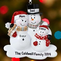 These mama and papa snowmen have something to be extra proud of this holiday season.