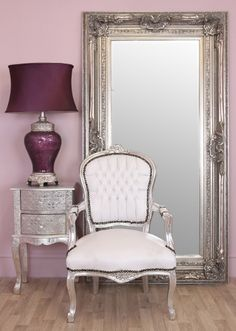 Louis White & Silver - White & Silver Framed Louis Style Armchair