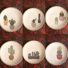 Ceramic Decor, Ceramic Clay, Ceramic Plates, Ceramic Pottery, Cactus, Pottery Painting, Ceramic Painting, Ceramic Dinner Set, Clay Crafts For Kids
