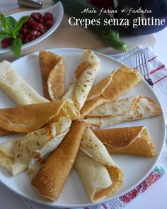 Crepes senza glutine per ricette dolci e salate.Ricetta base senza burro.