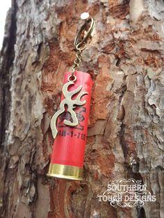 Shotgun Shell Key Chain - Deer Key Chain -  Shotgun Key Chain - Bronze Deer Head - 12 Gauge Keychain - Hunting Accessories - Camo Keychain  #pistol #girl #gun #shotgun #sassy #southern #countrygirl #cute #sweettea #grits