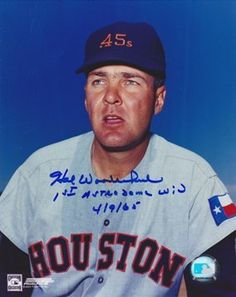 AAA Sports Memorabilia LLC - Hal Woodeshick Autographed Houston 45's 8x10 Photo with 1st ASTRODOME WIN Inscription, #halwoodeshick #houstonastros #astros #houston45 #autographed #sportsmemorabilia #sportscollectibles #mlb #mlbcollectibles $39.95 (http://www.aaasportsmemorabilia.com/mlb/hal-woodeshick-autographed-houston-45s-8x10-photo-with-1st-astrodome-win-inscription/)