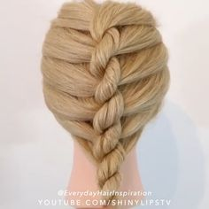 Easy Hairstyles For Long Hair, Braids For Long Hair, Braided Hairstyles, Style Hairstyle, Hairstyles 2018, Medium Hairstyles, Wedding Hairstyle, Hairdos, Updos