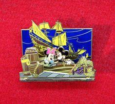 Disney Pin 53665  DIORAMA - MICKEY & MINNIE - PIRATES OF THE CARIBBEAN