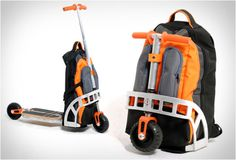 Scooter Backpack By Gustavo Brenck - I can see using this to get around a big tradeshow!