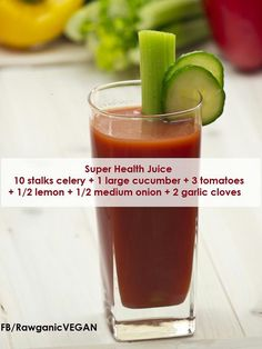 homemade V8 juice I would add a splash of tabassco... and going to use food processor instead of juicer