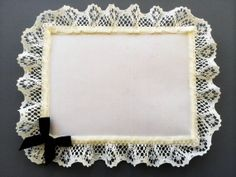 Pretty Little Lace Envelope with Pearls and Bows by buttonsbowsandbling, $0.69
