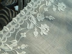 Ems Heart Antique Linens -Antique Linen Bridal Handkerchief