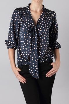 Polka Dot Secretary Blouse