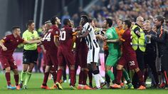 Tempers flared during Sunday's match, with Roma's Manolas and Juventus' Morata both seeing red late on