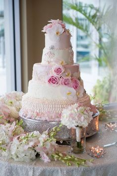 5 tier pretty pink wedding cake with pink flowers and white orchids Wedding Styles, Wedding Ideas, Surprise Wedding, Easy Cake Decorating, Wedding Cake Stands, Cake Business, White Orchids, Bridal Session, Beautiful Wedding Cakes