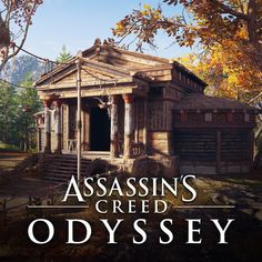 Here is my work as a modeler on the new Assassin's Creed Odyssey game. I had the mandate to create the wood version of some iconic public buildings that were construct back in the ancient greek time. Assassins Creed Black Flag, Assassins Creed Origins, Assassins Creed Odyssey, Edwards Kenway, Inspirational Artwork, Rome, Greek, Public, Outdoor Structures