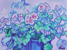 Commission an Original Floral Oil/Acr. painting, Impressionist Bold Happy Oil Painting, Made to Order by SnejanaArt on Etsy