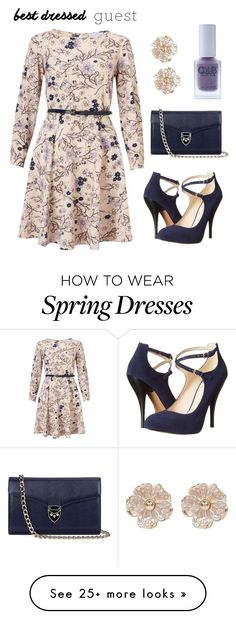 """flower power"" by smclaughlin2711 on Polyvore featuring Lipsy, Color Club, Aspinal of London, Nine West, River Island, bestdressedguest and barnwedding"