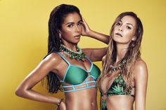 HOT editorial in braided Hamptons and Madrid Luxe statement necklaces by Jolita Jewellery