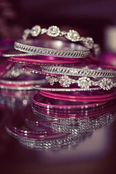 silver and magenta bling ;)