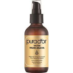 PURA D'OR Organic Moroccan Argan Oil 100% Pure Cold Pressed  #PersonalCare