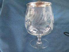 Vintage EPGA Etched Ferns With Covered Compote Marked by BitofHope