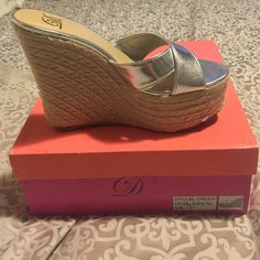 Espadrilles silver Brand new silver espadrilles with box Shoes Espadrilles