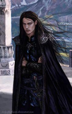 Caragdur - The same fate - details by Ladyoftheflower on DeviantArt (Maeglin)