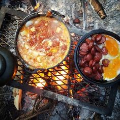 Cooking - New Ideas - Lauren Walsh - - rickie french 363 - Buscraft Camping Fire Cooking, Cast Iron Cooking, Outdoor Cooking, Cooking Venison, Best Camping Meals, Camping Cooking, Campfire Food, Campfire Breakfast, Bushcraft Camping