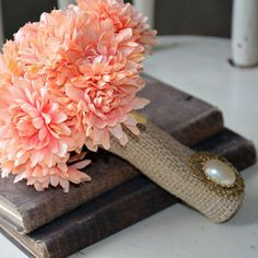 Vintage Rustic Shabby Wedding Bouquet by PumpkinPinkCottage