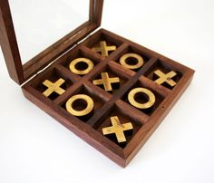 Wooden Tic Tac Toe Game >> What a great gift!