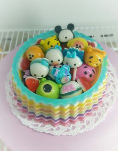Tsum tsum jelly pudding cake