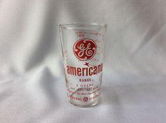Vintage General Electric GE Americana Range Oven Measuring Glass Advertising #GEGeneralElectric