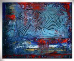 BURGSTALLER Künstler Bilder abstrakte Kunst Malerei Acryl Gemälde 50x60 EXPRES