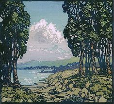 Incoming Fog - Color Block Print by Frances Gearhart