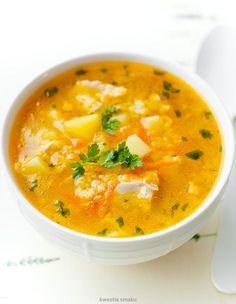 Krupnik jaglany Gout Recipes, Baby Food Recipes, Indian Food Recipes, Dinner Recipes, Cooking Recipes, Healthy Recipes, Healthy Soups, Home Food, Frugal Meals