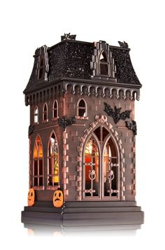 Haunted House Luminary Mini Drop In Candleholder Slatkin