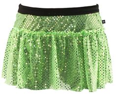 Are you looking for a costume for a St. Patrick's Day race? Sparkle Athletic has you covered! This junior lime green sparkle running skirt is the perfect bottom for when you need a little luck of the Irish on your run.