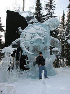 Mark Davis ice sculpture