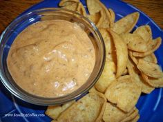 This is the best dip recipe ever. Doesnt matter how much I make, five minutes and its GONE. Especially popular with guys. Something I do for parties is put it in my little mini-Crockpot so it stays warm all day. Not that it EVER EVER lasts all day. Mini Crockpot Recipes, Best Dip Recipes, Cooking Recipes, Favorite Recipes, Yummy Recipes, Chili Cream Cheese Dip, Chili Cheese Dips, Chili Dip, Yummy Appetizers