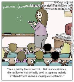 The evolution of the semicolon.