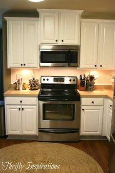 Kitchen Cabinets Painted with Rustoleum Cabinet Transformations     Thrifty Inspirations ... www.thriftyinspir...