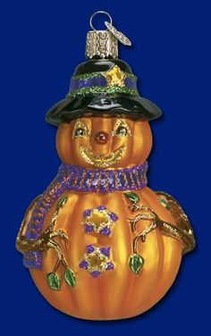 "Mr. Jack O' Lantern, 4 ½""  Old World Christmas Halloween glass ornaments"