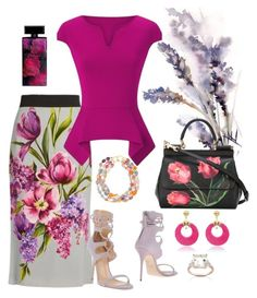 """""""I See a Pattern Here🌸🌼🌻"""" by parnett ❤ liked on Polyvore featuring Dolce&Gabbana, Giuseppe Zanotti, Roland Mouret, Elizabeth Arden, Kenneth Jay Lane and Dolce Giavonna"""