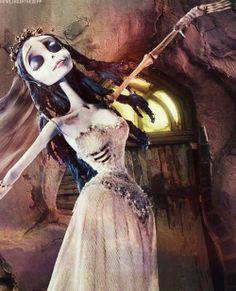 Corpse Bride by Tim Burton. Tim Burton Stil, Tim Burton Kunst, Tim Burton Art, Corpse Bride Art, Emily Corpse Bride, Tim Burton Corpse Bride, Corpse Bride Characters, Betty Boop, Totoro