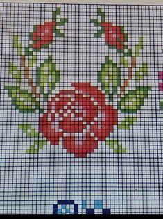 Anna Lucia, Cross Stitch Borders, Craft Accessories, Floral, Nostalgia, Crafting, Easy Cross Stitch, Small Cross Stitch, Cross Stitch Rose