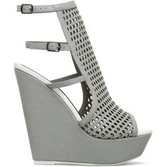 Sporty-Chic Laser-Cut Wedge Sandals for Spring