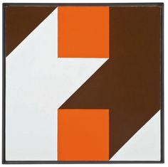 Frederick Hammersley, Me To (#1), 1975. Oil on linen, 20″ x 20″