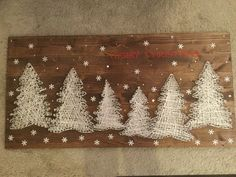 Pine tree string art wood. Alessandra Vinci