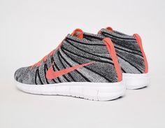 #Nike Free Flyknit Chukka Wmns - Grey/Mango #sneakers
