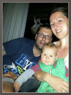 Happy en gekke familie.