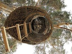 """""""South Africa-based creative consultancy Animal Farm has been rolling out a series of cozy nests since 2009, with the latest project, the Kubu Nest, built with 100% organic materials."""""""