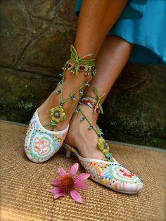 PISTACHIO BAREFOOT sandals green turquoise SANDALS por GPyoga